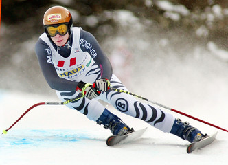 RIESCH OF GERMANY ON HER WAY TO WINNING IN HAUS.