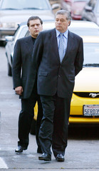Former Ukrainian Prime Minister Lazarenko arrives at Federal Courthouse.