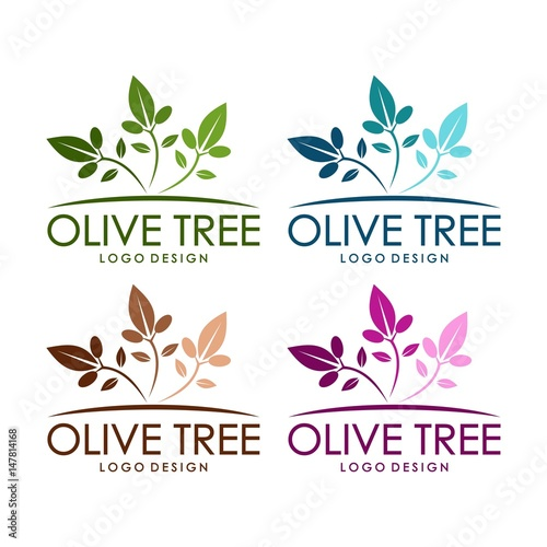 """Celg Quote: """"Olive Tree Design Logo Template"""" Stock Image And Royalty"""