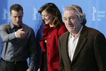 Actors De Niro, Damon and actress Gedeck pose during a photocall to present the film 'The Good Shepherd' running in competition at the 57th Berlinale International Film Festival in Berlin