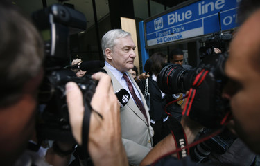 Conrad Black leaves the Dirksen Federal courthouse in Chicago
