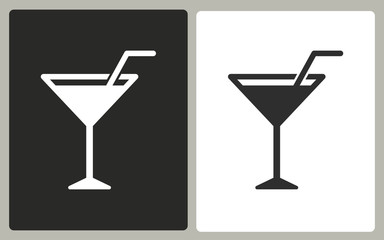 Cocktail - vector icon.