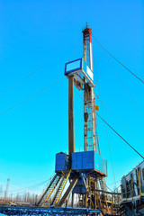 The drilling rig to drill for oil and gas.