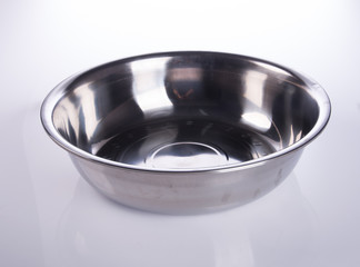 pot or stainless steel pot on a background.