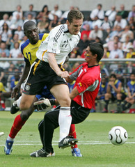 Germany's Miroslav Klose scores his team's second goal in Berlin