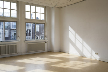empty room with classic architecture