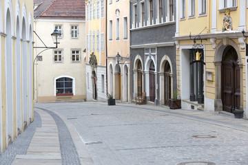 Malerische Straße in der Altstadt von Görlitz, Ostdeutschland