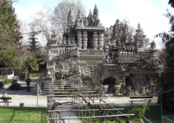 View of the Palais Ideal, an imaginary castle, built by a Ferdinand Cheval in Hauterives