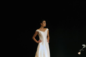 2e33cb50a3d A model presents a wedding gown creation by designer Elio Berhanyer in  Madrid