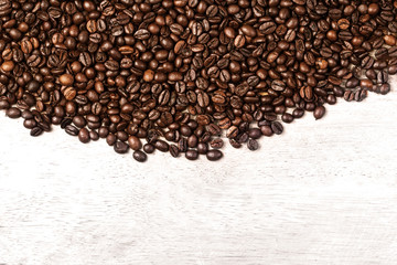 Coffee Beans Caffeine Roasted Brown Espresso wallpaper close up. Fried  Coffee Beans Texture macro