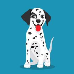 Cute Dalmatian dog. Vector