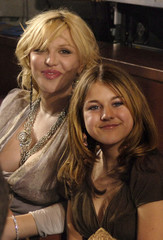 Rock star Courtney Love and her daughter Frances Bean at the finale of American Idol in Hollywood.