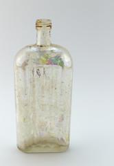 Antique glass medicine / poison bottle