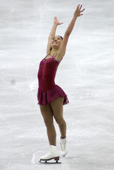 USA SKATER MICHELLE KWAN AFTER LADIES QUALIFYING AT WORLD CHAMPIONSHIPS.