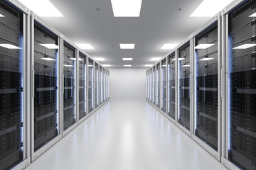 server room or server computers