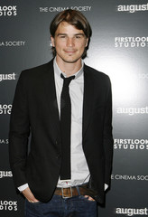 """Actor Josh Hartnett arrives to attend a screening of the film """"August"""" in New York"""