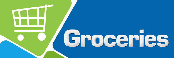 Groceries Green Blue Rounded Squares