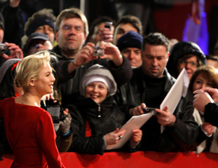 """Actress Zellweger arrives for the screening of the movie """"My one and only"""" at 59th Berlinale film festival in Berlin"""