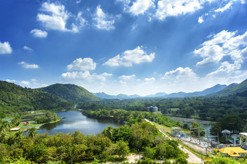 Landscpae view at Kaeng Krachan National Park in Thailand.