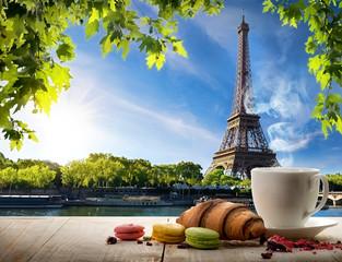 Fototapete - Breakfast in Paris