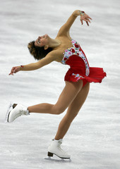 Sebestyen performs in the women's free program during the Figure Skating competition at the Winter Olympic Games