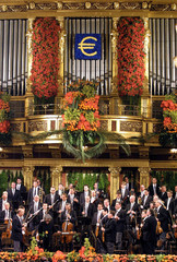 "THE ""GROSSER GOLDENE MUSIKVEREINSSAAL"" IS SEEN DURING THE NEW YEARCONCERT IN VIENNA."