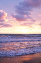 Nuvole Colorate Rosa Azzurre Sul Mare Al Tramonto Buy This Stock