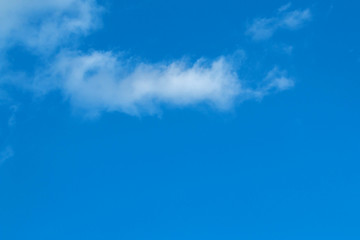 Small clouds decorating a beautirful sky