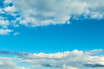 Fluffy clouds decorating a beautirful sky