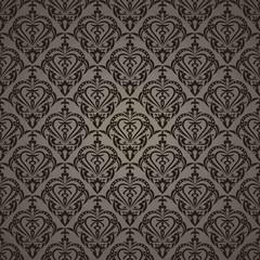 Fototapeta Seamless wallpaper with brown heart. obraz