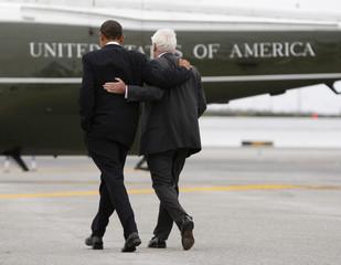 U.S. President Obama and Chris Dodd in New York