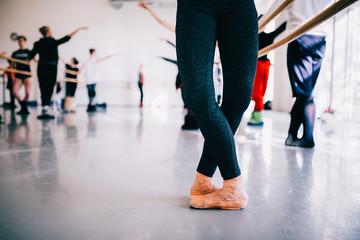 dancing ballerinas legs