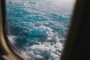 clouds out of airplane window