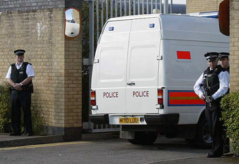 A van believed to contain suspects charged in connection with the failed bombings in London on July 21 ...