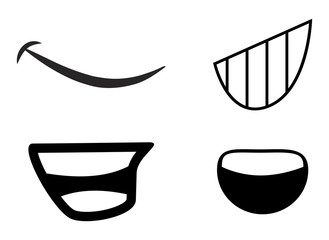 cartoon mouth vector symbol icon design.