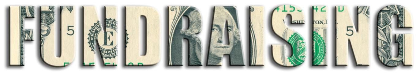 Fundraising. US Dollar texture.