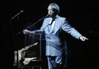 Reverend Al Sharpton speaks during the Michael Jackson public memorial at the Apollo Theater in New York