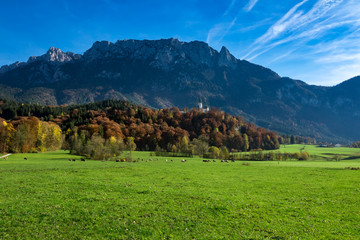 Wall Mural - Amazing alpine countryside landscape in the autumn time. Austria, Tirol, Tyrol