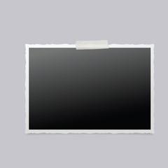 Photo frame isolated. Vintage Photo Frame. Vector illustration.