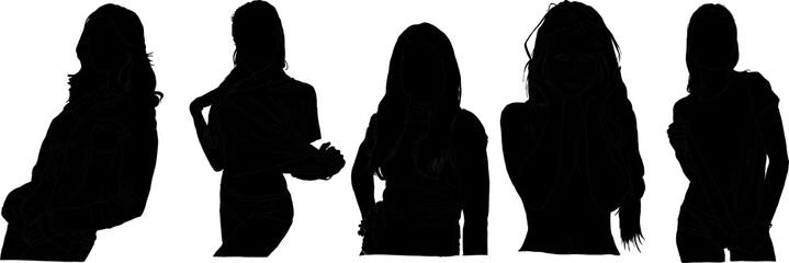 クラブ女性シルエット