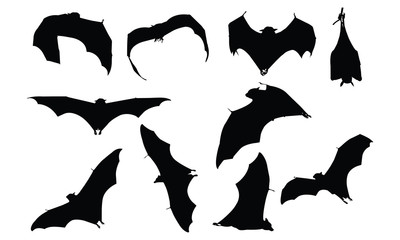 Bat Silhouette vector illustration