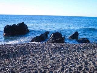 Rocas negras