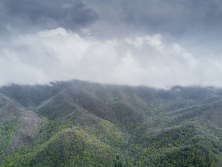Mountain Range During A Storm