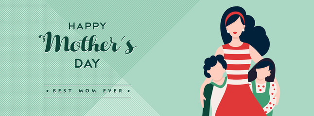 Mothers day banner for happy family holiday