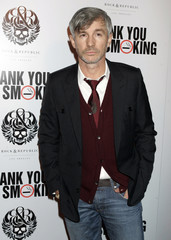 """Australian director Baz Luhrmann poses at Los Angeles premiere of """"Thank You for Smoking\"""