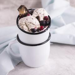Homemade stracciatella ice cream