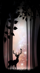 King of the forest silhouette art photo manipulation
