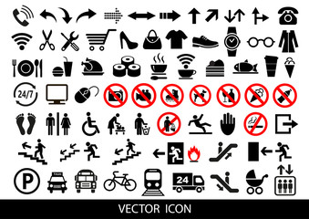 Public icons. Advertising and marketing icons, vector set