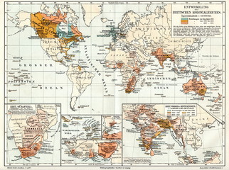 Development of British Empire (from Meyers Lexikon, 1895, 7/1028/1029)