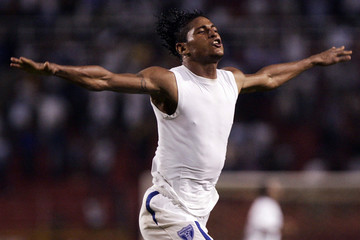 Honduras ' Carlos Costly celebrates after scoring a goal against Canada during their 2010 World Cup qualifying soccer match in San Pedro Sula